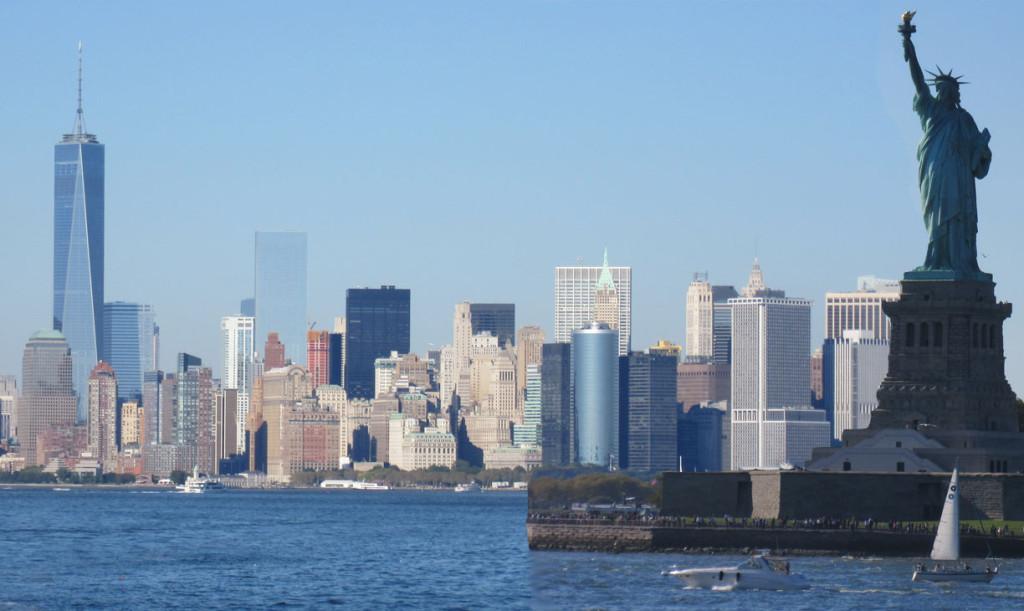 lady liberty en Skyline New York
