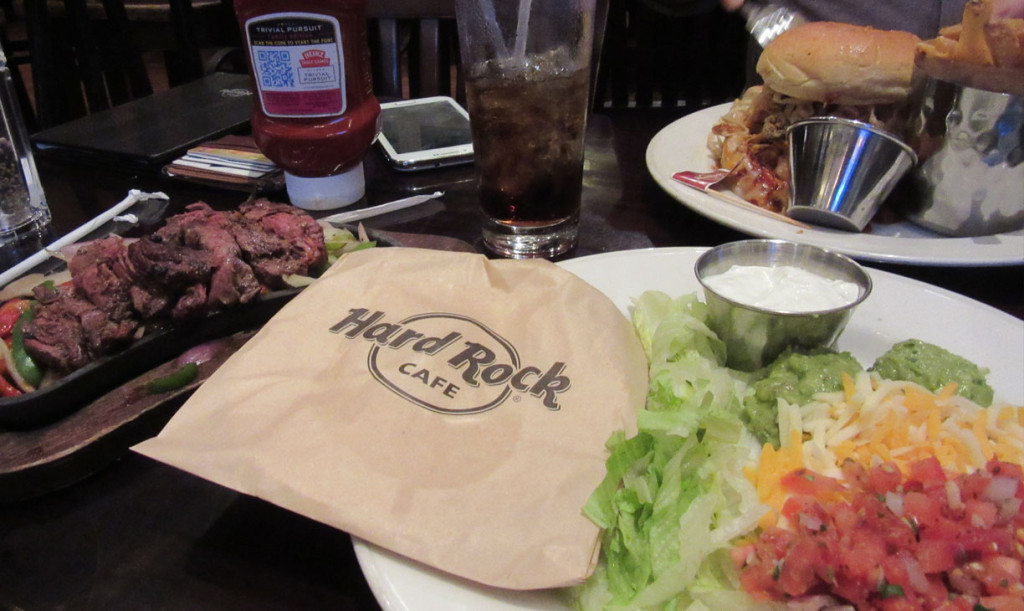 Eten bij Hardrock Cafe in Washington