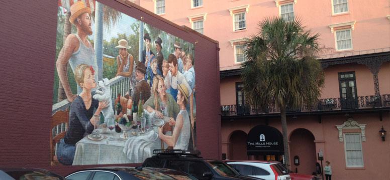 Charleston muurschildering