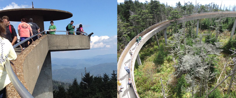 Clingmans Dome in de Great Smoky Mountains