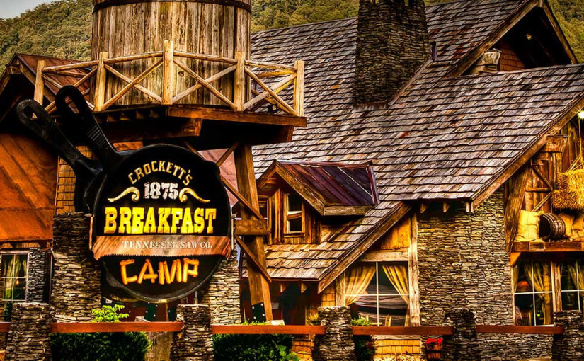 crocketts breakfast camp ontbijtrestaurant in Gatlinburg