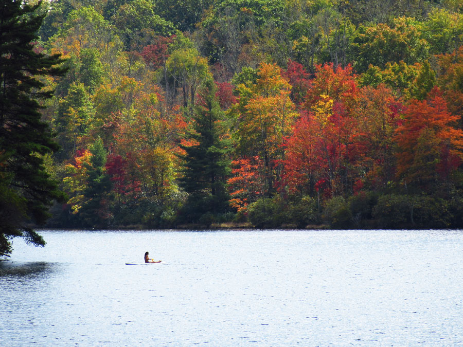 Amerika rondreis Blue Ridge Parkway Price Lake