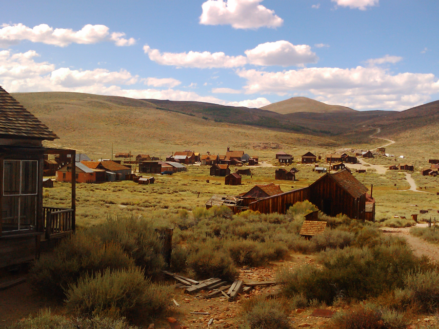 Spookstad in Amerika Ghost Town Bodie totaal