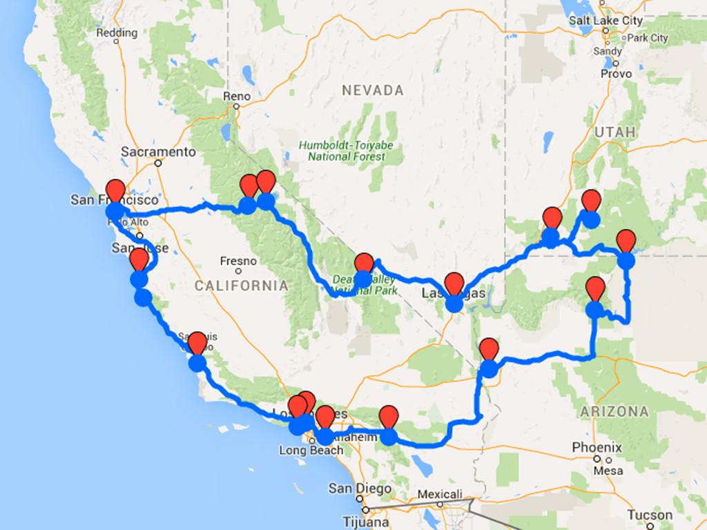 zelf je Amerika reis plannen route-westkust-Amerika-rondreis