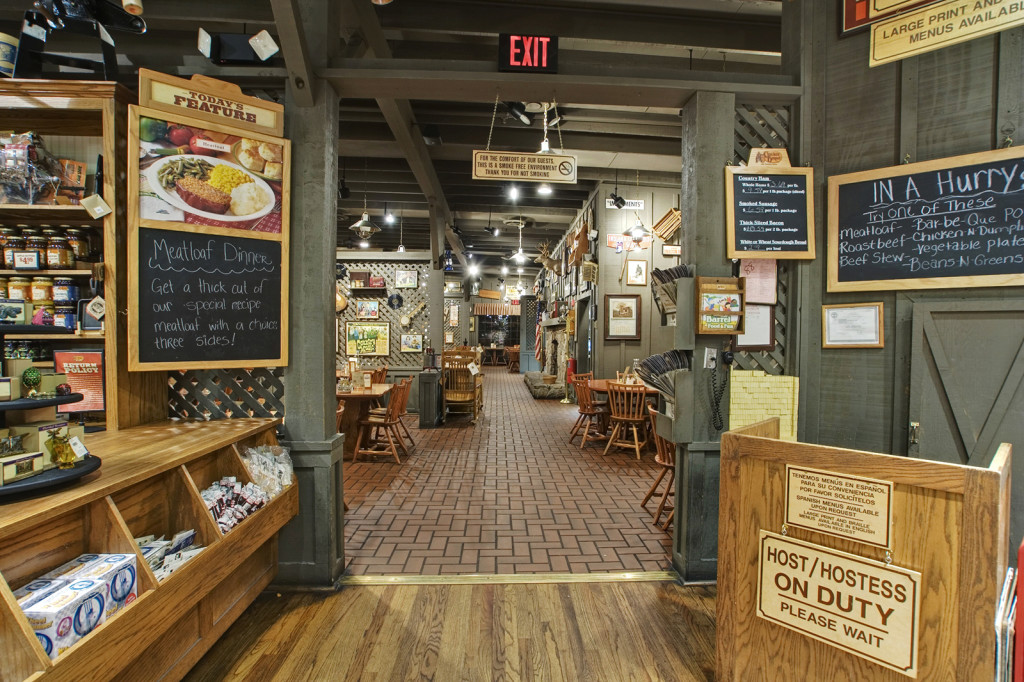 Cracker Barrel restaurant en winkel