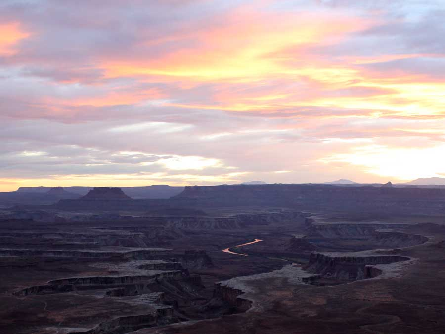 Zonsondergang-Canyonlands-in-Amerika