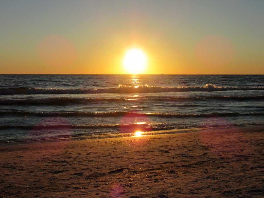 Zonsondergang-St-Pete's-Beach-in-Amerika
