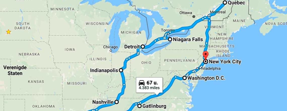 Een nieuwe Amerika reis: komt het goed met de route?