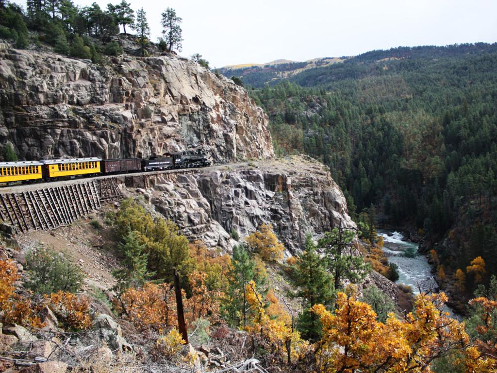 Durango-Silverton-trein-in-Amerika