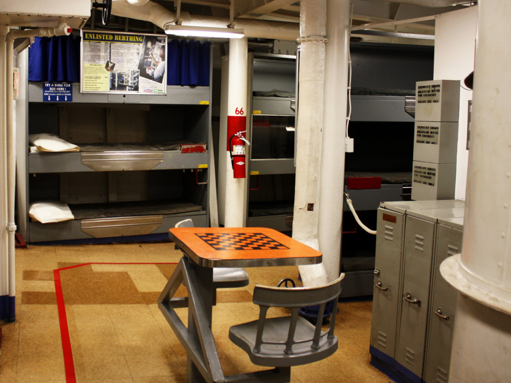 Bunk-bed-Amerikaans-slagschap-Battleship-New-Jersey