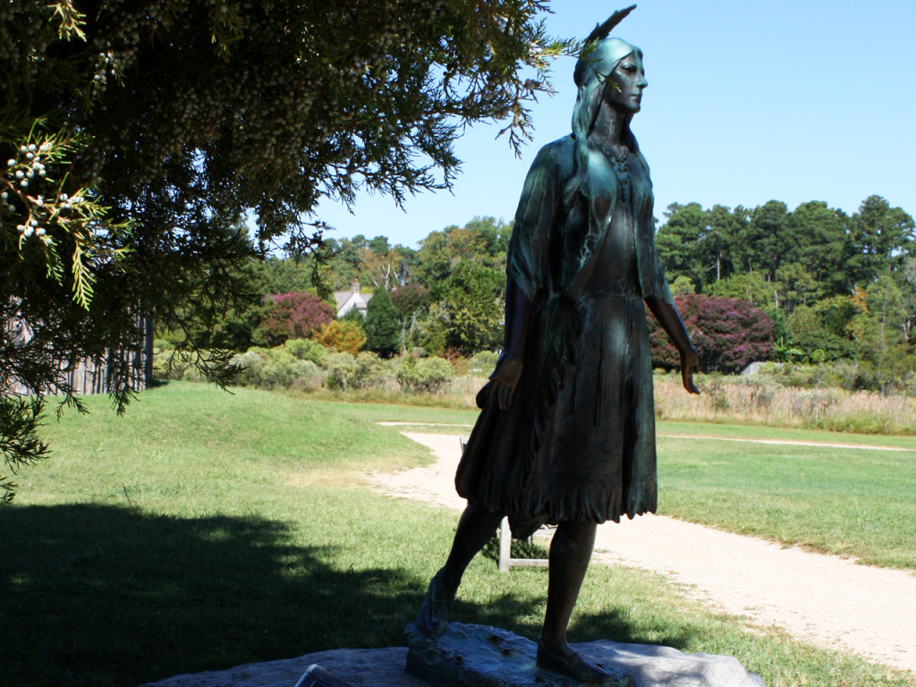 Pocahontas-in-Jamestown-Historic-Triangle-van-Amerika