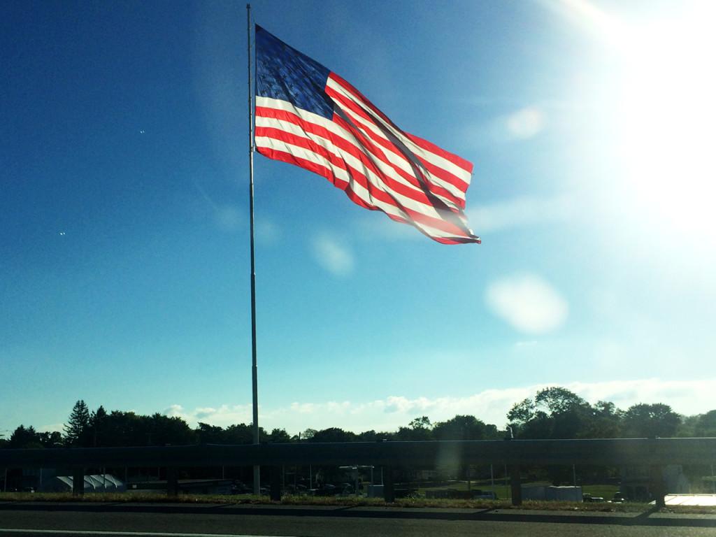 Vlag-langs-de-weg-in-Amerika