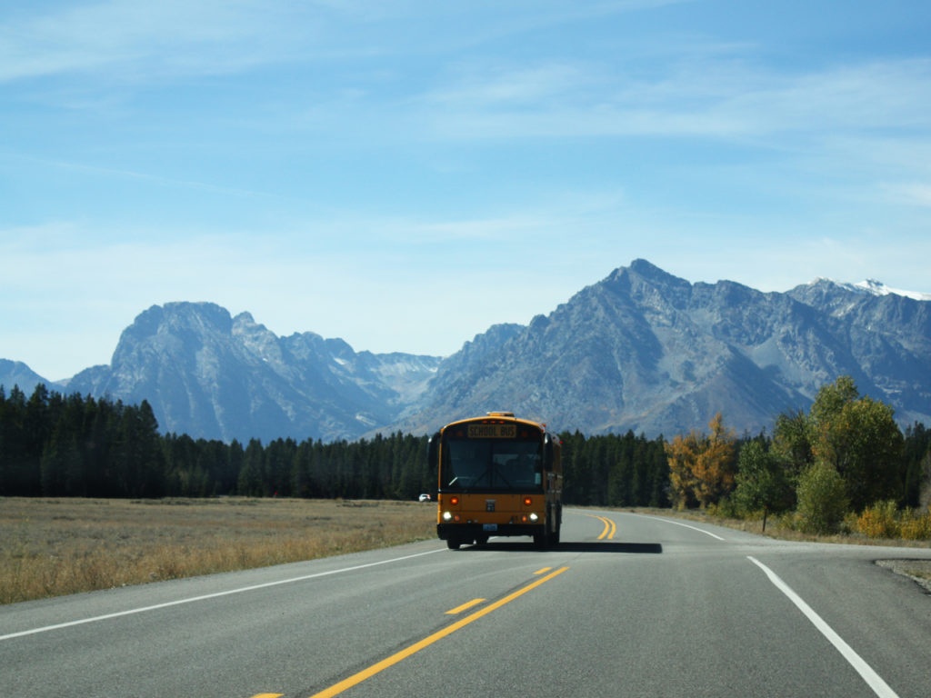 Amerikaanse-schoolbus-Grand-Teton-National-Park