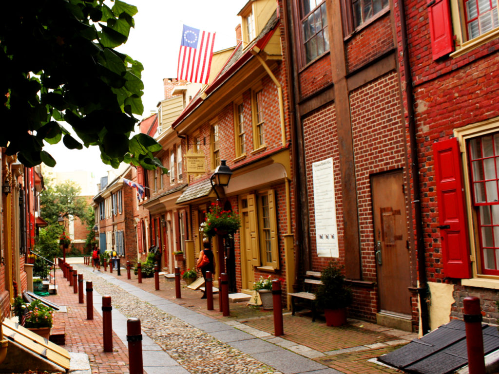 Elfreth's Alley -Historic-Philadelphia-Amerika-reisblog