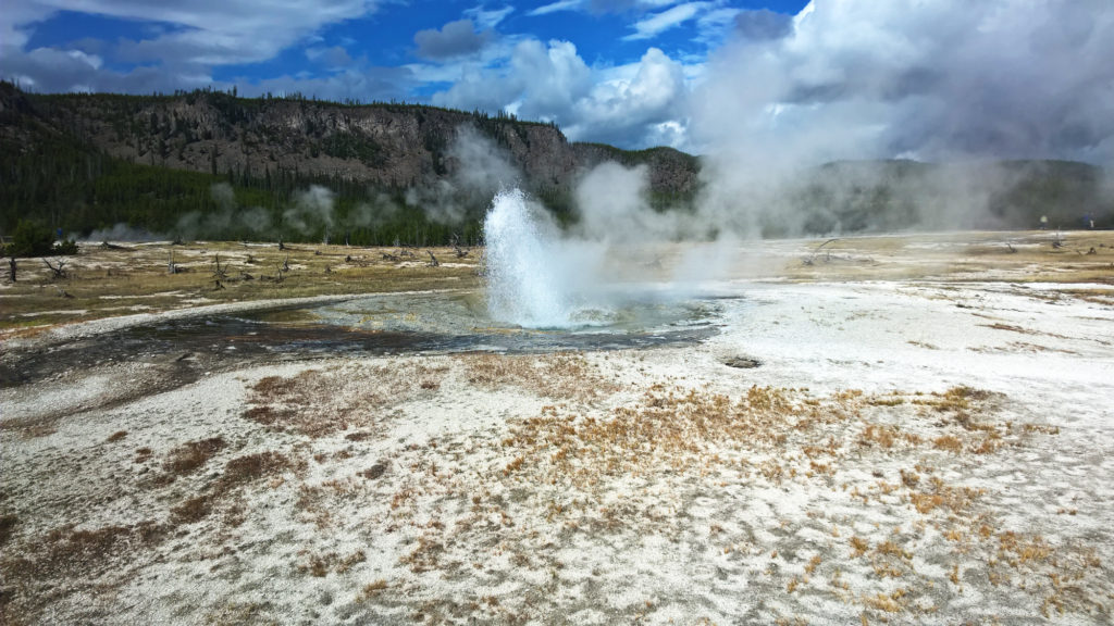 Biscuit-Basin Yellowstone National Park in Amerika