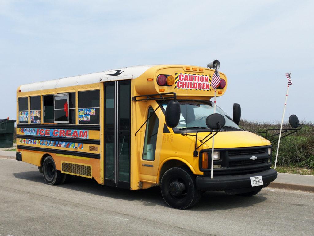 schoolbus-Texas-strand