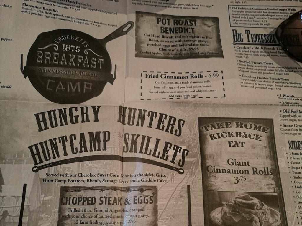 menu-Crockett's-Breakfast-Camp-Gatlinburg