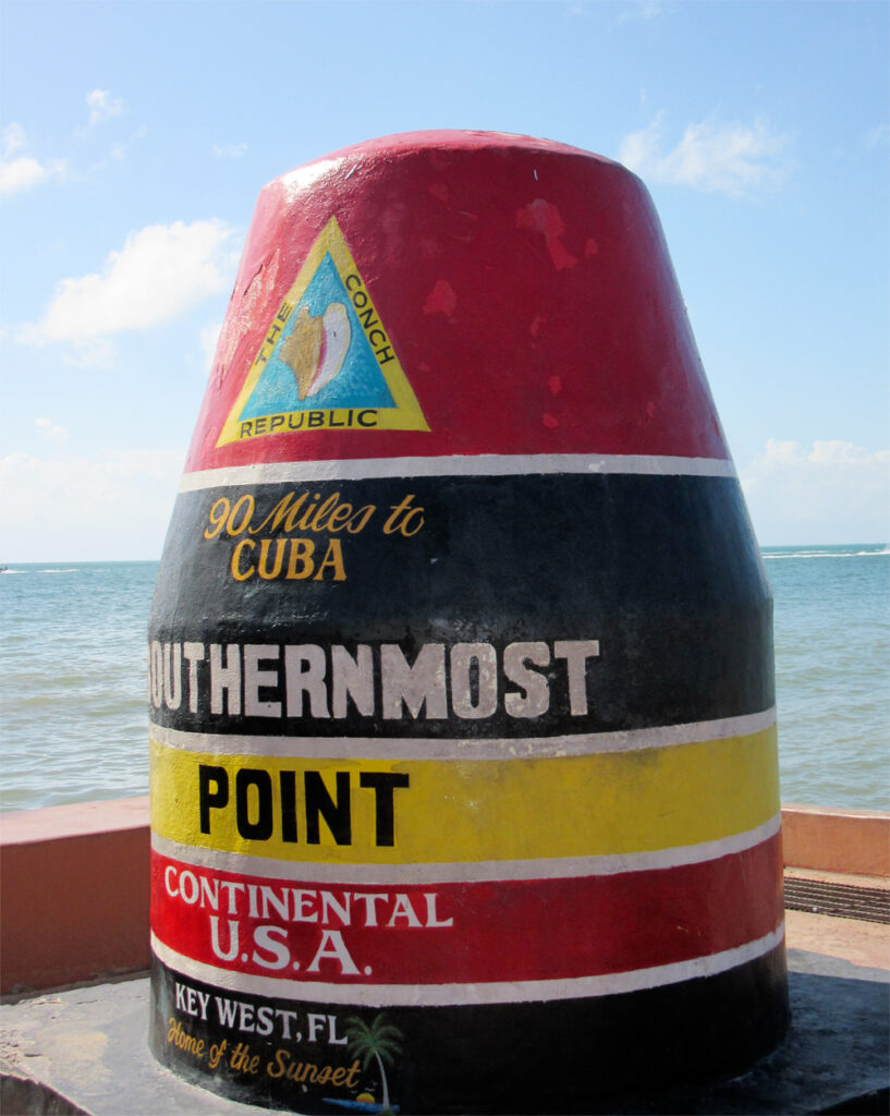 Southernmost point in Key West Florida
