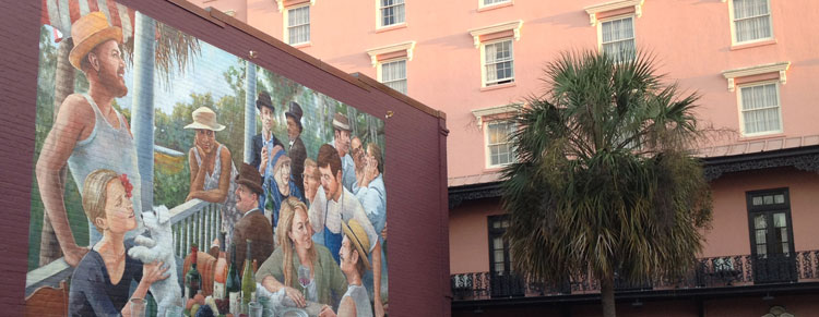 Muurschilderij in Charleston