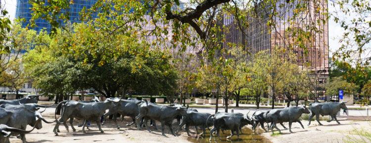 Pioneer Plaza Dallas Amerika bezoeken